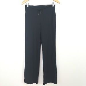 Lululemon Relaxed Fit Black Pants Drawstring Hems